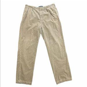 Ralph Lauren Mens Corduroy Chino Pants 38x34 Brown